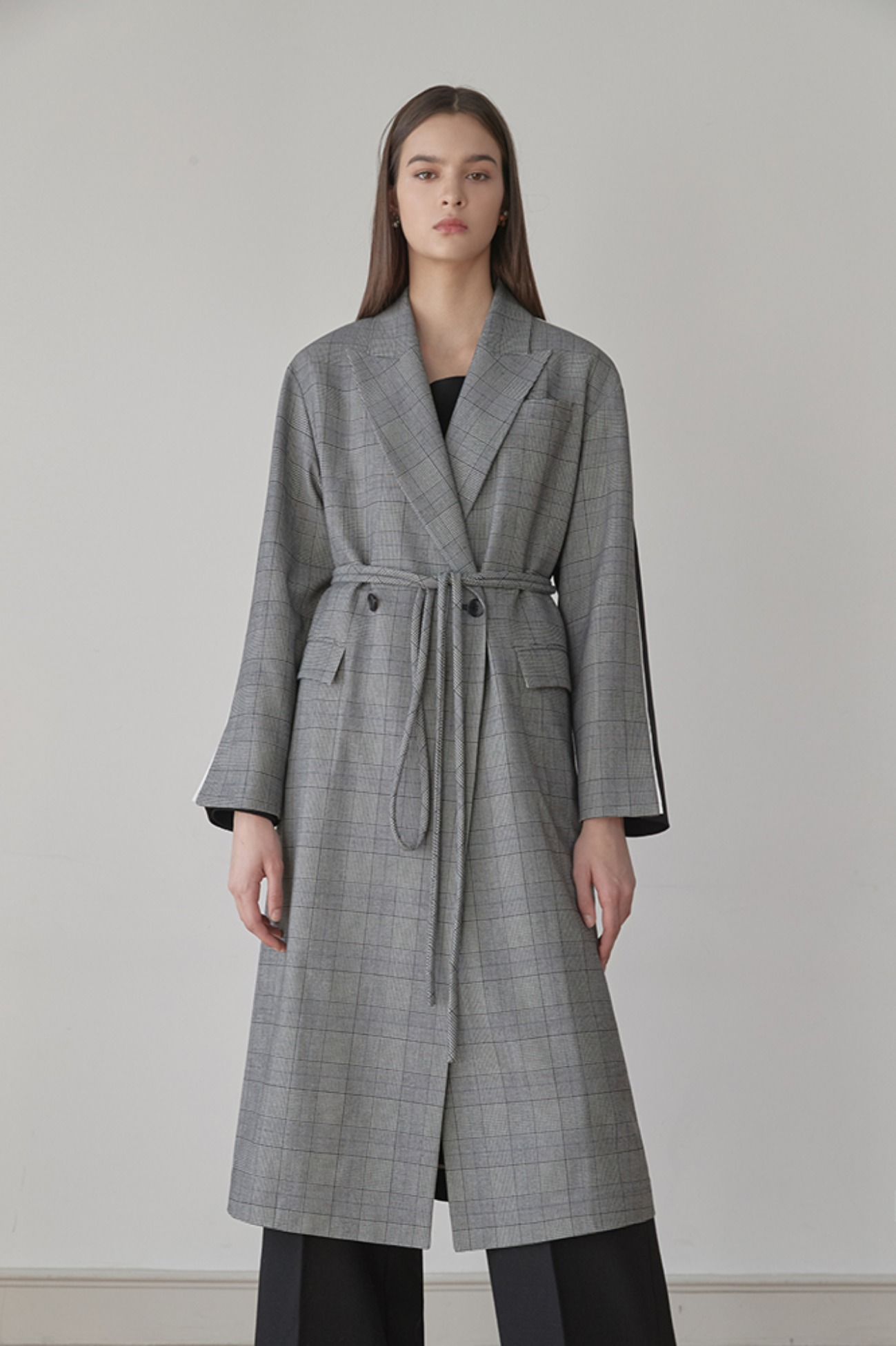 Jacket Long Cappotto – With Check